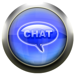 classic blue chat icon 1